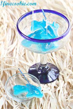 Drunken Gummy Sharks by 1 Fine Cookie    http://www.1finecookie.com/2012/08/drunken-gummies-so-throwback/#