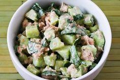 Garden Cucumber Salad Recipe with Tuna and Sweet Basil