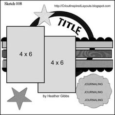 Cricut Inspired Scrapbook Layouts: CIL Scrapbook Sketches