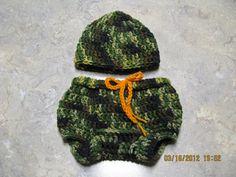 Camouflage hat & pant set