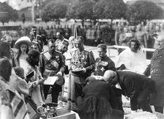 """Emperor Nicholas II and his eldest child, Grand Duchess Olga Nikolaevna, at a religious ceremony "" Tsar Nicolas Ii, Tsar Nicholas, Romanov Sisters, The Bolsheviks, Last Emperor, Grand Duchess Olga, Religious Ceremony, Imperial Russia, Anastasia"