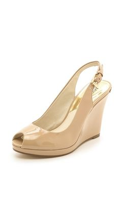 MICHAEL Michael Kors Keegan Slingback Wedges. Maybe for Steph's wedding?