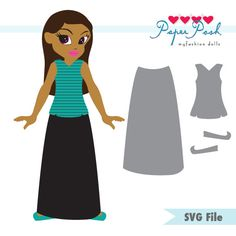 Paper Posh myfashion doll SVG Cutting File Girl by RaeMaCreations