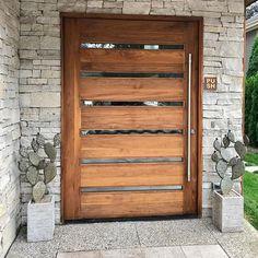 Modern Entrance Door, Modern Exterior Doors, Entry Doors, Garage Entry, Wood Front Doors, Wooden Doors, Steel Doors And Windows, Mid Century Modern Door, Contemporary Front Doors