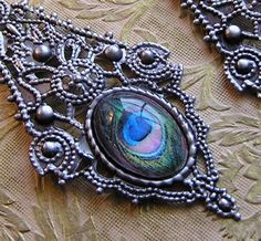 Huge Gothic Peacock Earrings by outofthedoor on Etsy