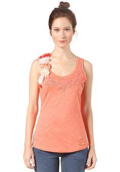 3254c3564869 khujo Sile - Top für Damen - Orange. KHUJO - Womens Sile Top orange   planetsports