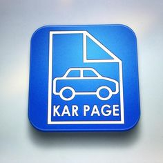 Hey guys, I wanted to show you the KarPage app icon, that I've been working on. What do you think? App Icon, Drink Sleeves, Ios, Android, Application Icon