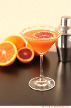Delicious Alcoholic Drink Recipes | This recipe for a Spicy Citrus cocktail makes 2 delicious servings!