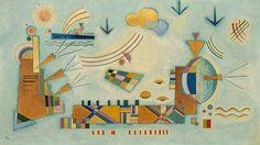 Painter Wassily Kandinsky. Painting. Mild process. 1928 year