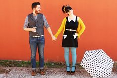 Sweet couple pic- but even CUTER vintage outfit!