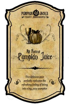 Pumpkin Juice (all-natural)