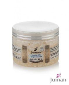 Telový peeling s minerálmi z mŕtveho mora a kokosovým mliekom Dead Sea Minerals, Body Scrub, Coconut Milk, Beauty, Body Scrubs, Beleza