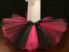 Black and Pink Tutu by SimplyTooCuteCouture on Etsy