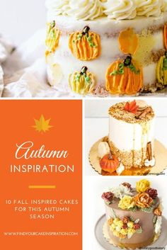 Check out 10 autumn cake ideas for this fall season ranging from pumpkins, leaves, to buttercream flowers.