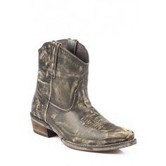 Roper Ladies Cowboy Boot Sanded Brown