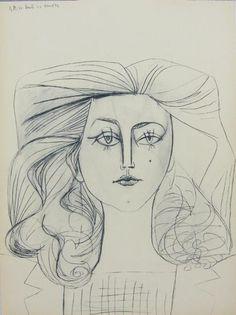 Pablo Picasso - Portrait of Françoise Gilot