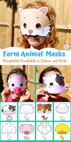 Printable Farm Animal Masks for Kids Printable Farm Animal Masks for Kids. With a choice of 9 different farm animal masks to print and colour. Perfect for a farm animal lesson plan or farm animal crafting at home Printable Farm Animal Masks for Kids Giraffe Crafts, Ocean Animal Crafts, Farm Animal Crafts, Animal Crafts For Kids, Fun Crafts For Kids, Preschool Crafts, Farm Animals For Kids, Farm Crafts, Animal Masks For Kids