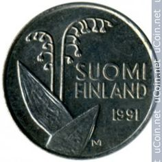 The days before euro...the Finnish pennia from 1991 and the national flower Lily of the Valley