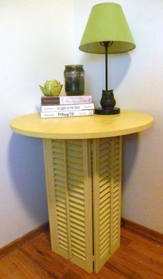 Shutter stand round End table Night stand Side by BranchesandBows, $105.00
