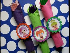 Lalaloopsy utensils for candy buffets, birthdays... also available for frozen, Doc mcstuffins, Elmo, Sofia, abby cadabby, shopkins, PJ Masks by bellecaps on Etsy