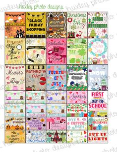 Holiday Stickers for EC Planners (PRINTABLE)