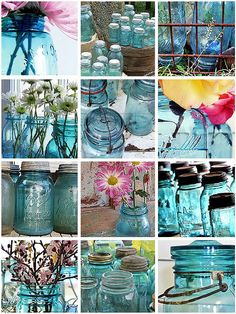 I just love the color in these old jars and the heritage they represent.