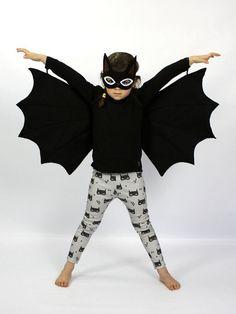 Bat Felt Mask & Wings Costume Set