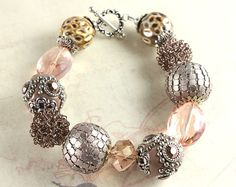 Dusty Rose Kashmiri and Mixed Media Bling by NancysCrystalFantasi, $30.00