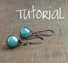 Nice tutorial for simple but very effective earrings. #wire #jewelry #tutorial