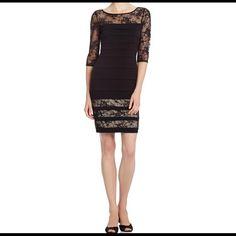 000c30d4 Sangria Black Lace Sheath Dress- Size 6 Retail Price: $89.99 3/4 lace