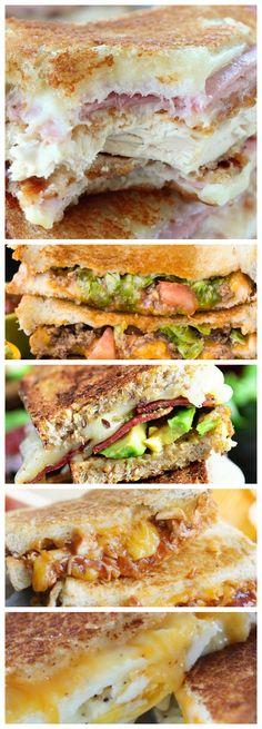 21+ Grilled Cheese Sandwiches that your family will go CRAZY for! Deliciously yummy, cheesy goodness for kids and adults alike!
