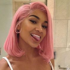 Hair Grade: Magic Love Hair Unprocessed Virgin Human Hair Hair Length: inches In Stock Hair Color: Pink Short Bob Wigs, Long Wigs, Remy Human Hair, Human Hair Wigs, Wig Hairstyles, Straight Hairstyles, Halloween Hairstyles, Christmas Hairstyles, Short Haircuts