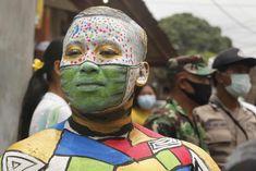 A facepaint mask and rutting season: Thursday's best photos | News | The Guardian Antonio Garcia, Rocky Horror Show, Hindu Rituals, Richmond Park, Picture Editor, Durga Goddess, Tampa Bay Rays, A Cartoon, Ballet Dancers