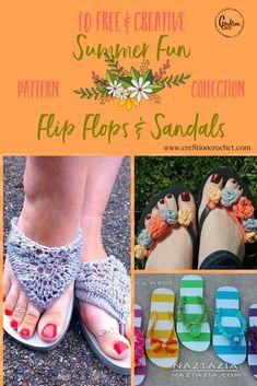 Summer Fun Flip Flops Pattern Collection - Cre8tion Crochet