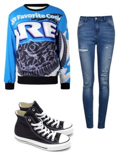 """""""Seventh grade"""" by haileynwmg ❤ liked on Polyvore featuring Ally Fashion and Converse"""