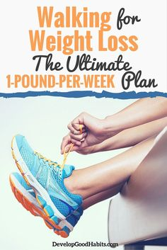 You can lose weight from just walking.In fact, it's actually relatively simple to lose one pound per week just by creating the walking habit.