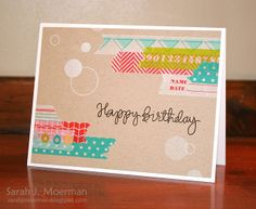 Some Very Washi Cards and a Rainbow of Color from Simon Says Stamp