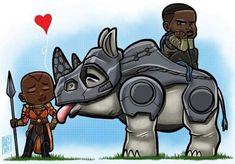 Okoye and W'Kabi