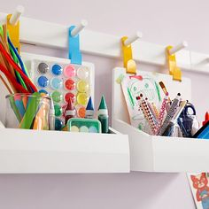 46 Marvelous Kids Storage Design Ideas With Wall System To Have - When you're a kid, it's hard to pick out the best design, home accessories or colors for your room. That's why it's best for parents to take control w. Wall Mounted Storage Bins, Wall Storage Systems, Playroom Organization, Playroom Ideas, Playroom Decor, Wall Decor, Chalkboard Wall Playroom, Playroom Bench, Daycare Ideas