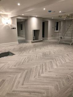 House Design, New Homes, Basement Remodeling, Wood Floor Design, House, Barn Interior, Bungalow House Design, Herringbone Tile Floors, Floor Design