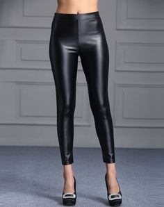 Solid Black Slim Simple Leggings I found this beautiful item on VIPme.com.Check it out!