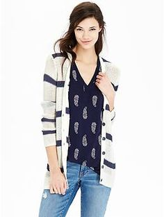 Women's Linen-Blend V-Neck Cardigans   Old Navy...perfect with some jeans and a tee!