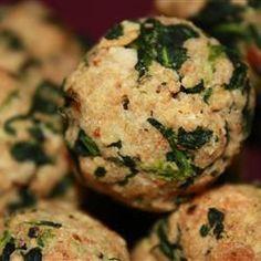 Spinach Vegetarian Balls @ allrecipes.com.au