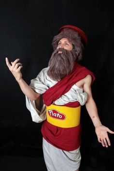 Impress with this Play-Doh Plato costume idea.