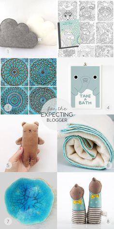 etsy-christmas-gift-guide-pregnant-blogger-ITALIANBARK  @etsy #giftguide #babygiftideas #turquoise