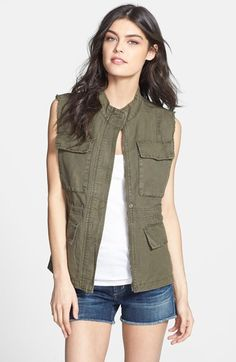 Sanctuary Linen Blend Cargo Vest - perfect for fall layering