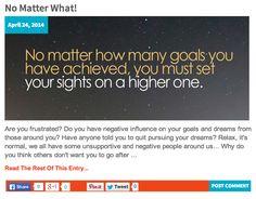 No Matter What! => http://katielendel.com/matter/
