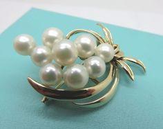 14k Solid Gold Miki Moto Mikimoto Cultured Pearl Pin Brooch Pendant 9 Grams | eBay
