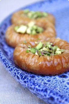 Spirali di pasta filo ai pistacchi - Pistachios pastries