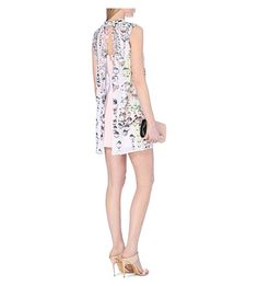 TED BAKER Crystal droplets cape dress (Nude pink